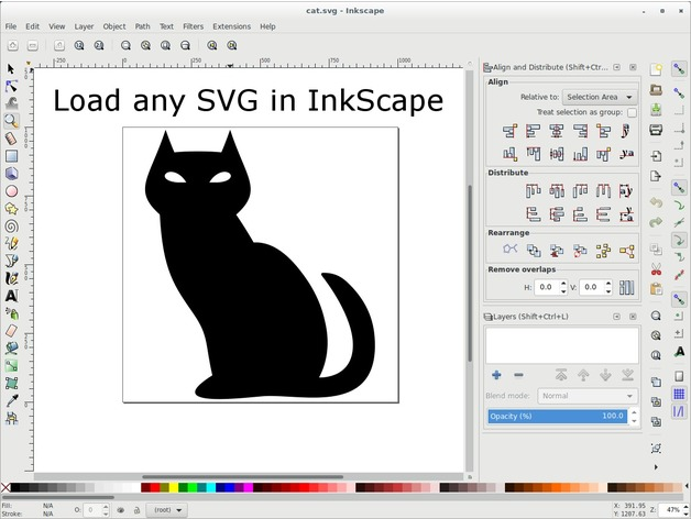 SVG to OpenSCAD Bezier - InkScape extension by gaellafond