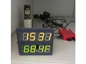 "Dual 1.2"" LED Four (4) Digit Seven (7) Segment display with backpack panel  (Adafruit)"