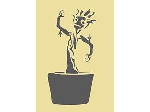 Baby Groot stencil