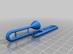 Rusty Trombone keyring
