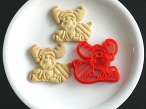 Reindeer Cookie Cutter for Christmas
