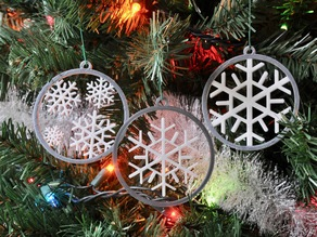 Floating Snowflake Ornament + 2 other designs