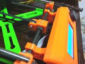 Prusa i3 Mk2 Bolt-mounted LCD Brackets