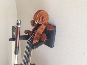 Violin and Viola Wall Hanger with Bow Holder