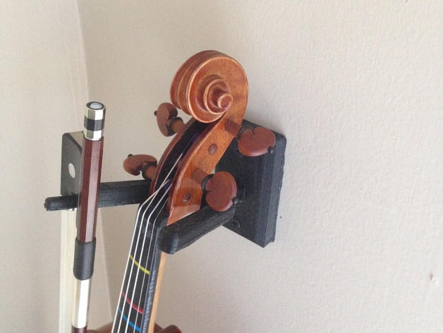 Violin And Viola Wall Hanger With Bow Holder By Tnever