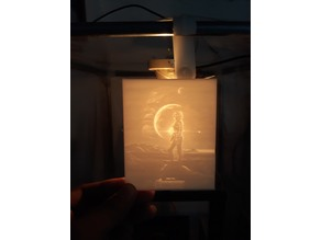 Captain Marvel lithopane
