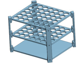 Test Tube Rack for 12mmx100mm tubes (JeffCo)