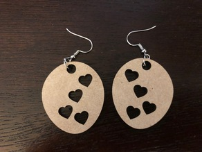 Heart Oval Earrings