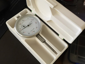 Dial Indicator Case with 1.75mm Filament Pins