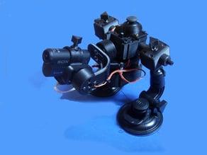 RoboG, gimbal, stabilizzatore video standalone per Sony as15 e gopro2/3