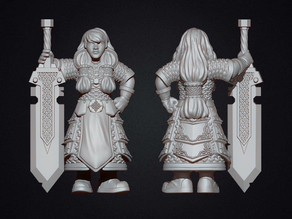 Female dwarf warrior