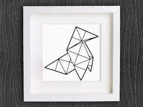 Customizable Origami Heavy Rain - The Bird (Video Game)