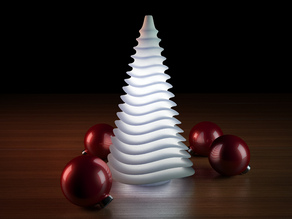 Generative design. Wave lamp for the holidays (HQ) version