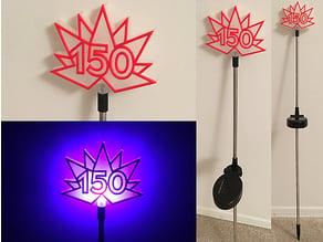 Canada 150 Solar Garden Light (customizable)