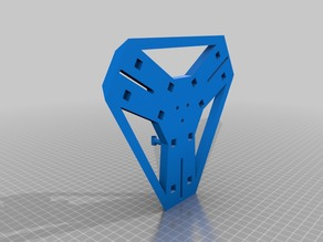 Anycubic Kossel top mounted extrudes and spool holders