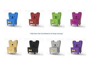 teddy bear chair sofa miniature