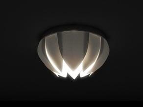"Lotus ceiling lamp based on cheap IKEA Lamp mount ""Lock"""
