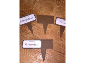 Small herbage / garden labelholder - for 18x44mm layouts