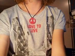 Peace-logo necklace