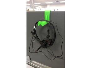 "Headphone Hanger for 7/8"" Steelcase Rounded Divider Panel"
