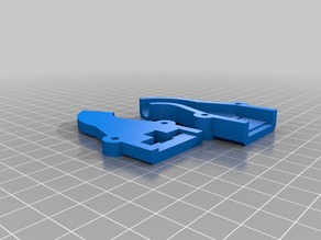 Anet E10 cable strain relief for heatbed with nuts