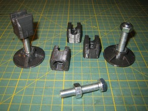Height-adjustable legs for Prusa