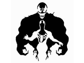 Spiderman Venom stencil 3
