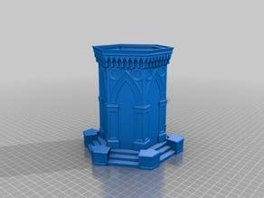 fountain gazebo planter/box