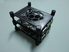 Raspberry Pi stackable tray - Parameteric Lid
