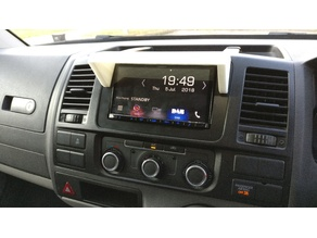 VW T5 Radio Sun Shield