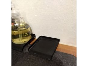 Soap dispenser tray