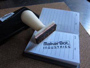 Parametric Rubber Stamp Handle