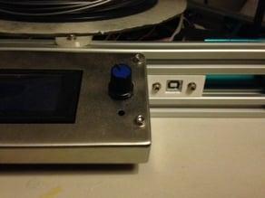 USB-B conectorhousing 2020 frame