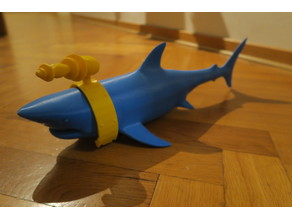 """Shark with a """"LASER"""" attached to its head"""