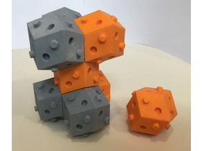 rhom-dod bulding block (rhombic dodecahedron)
