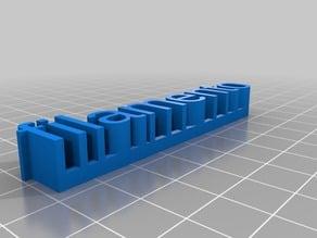 My Customized 3D name platFilamentoe