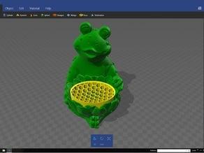Frog soap dish 3