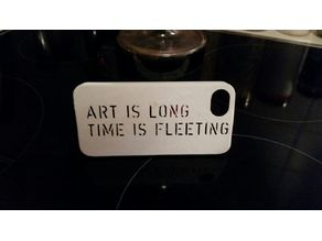 iphone 5 case - Art is long Time is fleeting