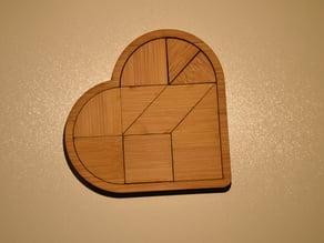 Tangram Heart shape