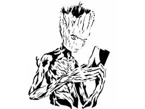 Teenage Groot stencil