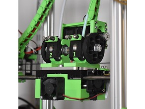 Dual Budaschnozzle X-carriage & extruders