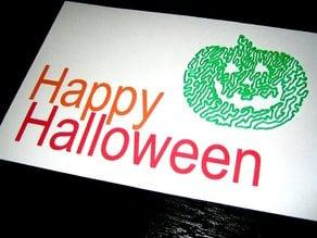 Halloween Card - Pumpkin