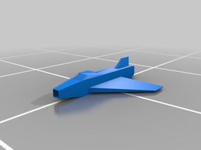 Simple fighter jet for 3D-printing