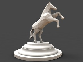 horse low poly style