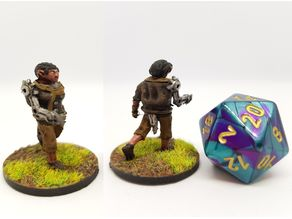 Gnome Rogue Assassin for 28mm tabletop roleplaying