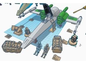 Rebel Hangar Decorations (Star Wars Legion scale)