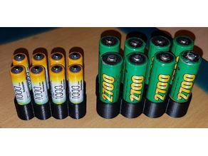 Porte-piles AA et AAA x8 / x8 AAA & AA Battery holder