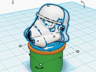 Handlebar Plug -- Storm Trooper