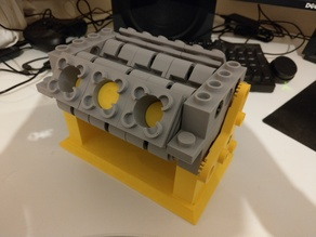 Massive Lego V6 Engine