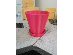Flowerpot w/ Drip tray